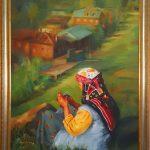 Eşini Bekleyen Anadolu Kadını
