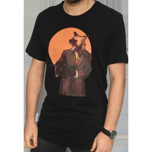 Kurt Adam Ozel Tasarim Siyah T Shirt Dga Online Alisveris