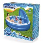 güneşlikli aile havuzu